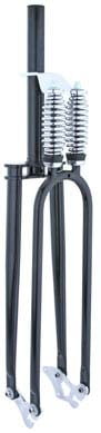"Square Top Dual Springer Fork 1 1/8"" Threadless Black"
