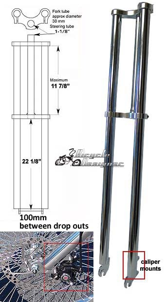 Chopper Fork For Bicycles 34 Quot