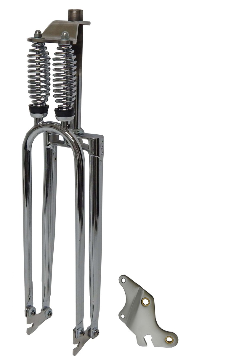 Monark style cuda double springer fork for Suspension decorative