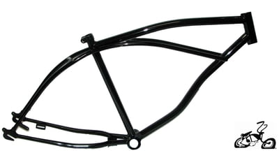 "26"" Cruiser Bicycle Frame Black"