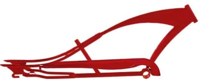Stretch Cruiser Frame and Chain Guard RED