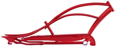 Mustang Stretch Cruiser Frame and Chain Guard RED