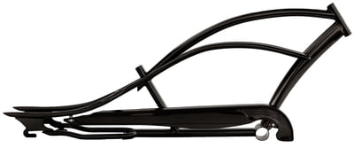 Mustang Stretch Cruiser Frame and Chain Guard BLACK