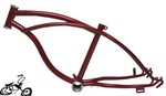 "Lowrider Bike Frame 20"" - DARK RED"