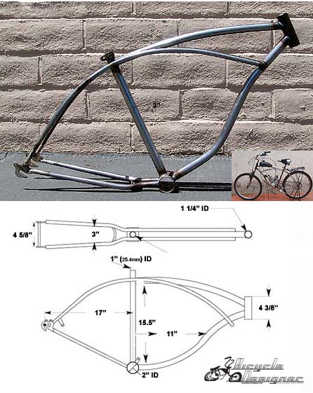 Cruiser Bicycle Frame 26\