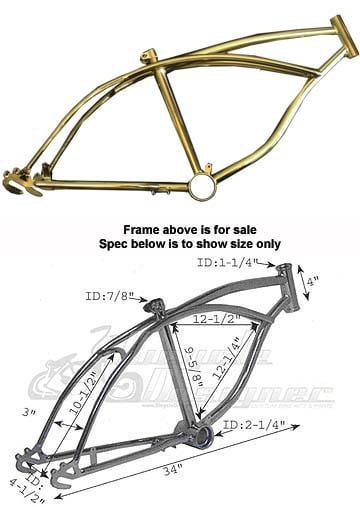 Gold Lowrider Bike Frame For 20\