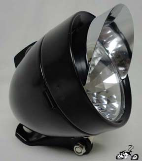 LED Bullet Light BLACK / CHROME VISOR