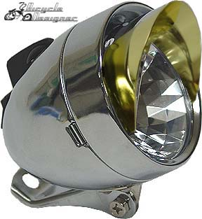 LED Bullet Light with Visor GOLD
