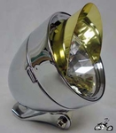 Bullet Light CHROME / GOLD VISOR