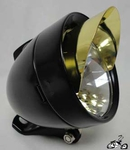 LED Bullet Light BLACK / GOLD VISOR