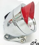 Bullet Light CHROME RED SPARKLE VISOR