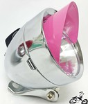 Bullet Light CHROME PINK SPARKLE VISOR