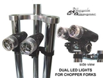 Dual LED Chopper Bullet Light Kit BLACK