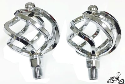 "1/2"" Show Bike Birdcage Pedals CHROME (pair)"