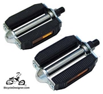 "1/2"" Rubber Beach Cruiser Pedals BLACK (pair)"