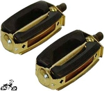 "1/2"" Krate Bicycle Pedals BLACK/GOLD (pair)"