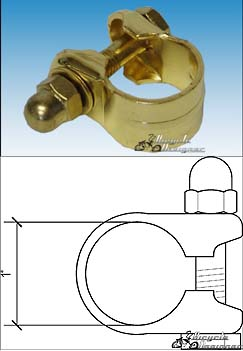 22.2mm Bicycle Seat Post Clamp GOLD