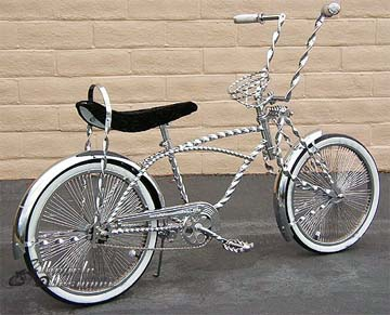 NEW TRIPLE SQUARE TWISTED STRAIGHT SISSY BAR CHROME LOWRIDER BIKE CUSTOM BICYCLE