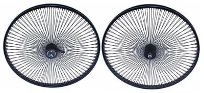 "26"" 144 Spoke Coaster Wheel Set BLACK"