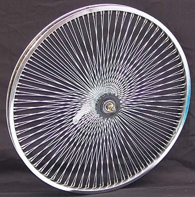 "26"" 140 Spoke Coaster Wheel CHROME"