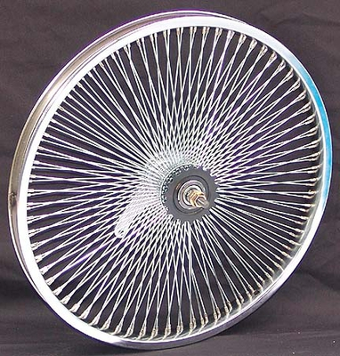 "20"" 140 Spoke Coaster Wheel CHROME"