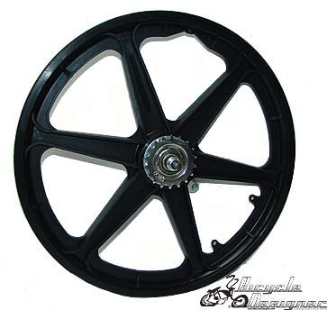 "20"" Mag Coaster Wheel BLACK"