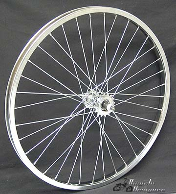 "24"" 36 Spoke Free Wheel CHROME"