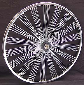 "26"" 140 Spoke Fan Coaster Wheel CHROME"