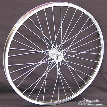 "24"" 36 Spoke Front Wheel CHROME"