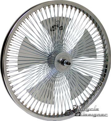 "20"" 140 Spoke Spinner Wheel CHROME"