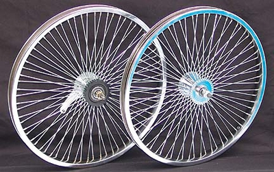 "20"" 68 Spoke Coaster Wheel Set CHROME"
