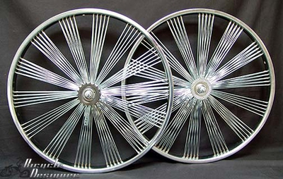"24"" 140 Fan Coaster Wheel Set CHROME"