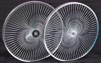 "26"" 140 Spoke Coaster Wheel Set CHROME"