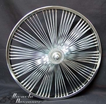 "20"" 140 Fan Front Wheel CHROME"