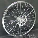 "24"" 36 Spoke Front Disk Wheel CHROME"