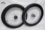 "20"" CHROME 36 Coaster Fat Tire Wheel Kit"