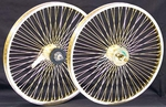 "20"" 68 Spoke Coaster Wheel Set GOLD"