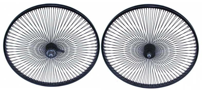 """Details about  /New 24/"""" Beach Cruiser Lowrider 144 spokes Rear /& Front  Bicycle Wheelset Black"""