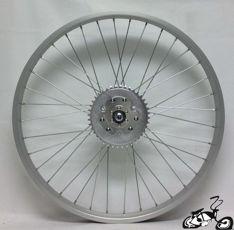 Rear Wheel For A Gas Engine Kit Bicycle