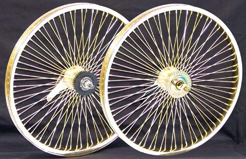 Lowrider Rims And Tires >> Lowrider Bicycle Wheels Gold