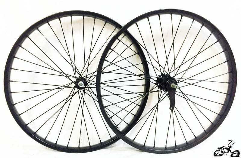 Black 26 36 Spoke Bicycle Wheels With Coaster Brake