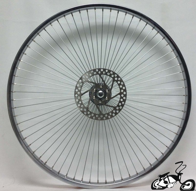 Front Disc Brake Wheel For A Cruiser Bicycle 68 Spoke