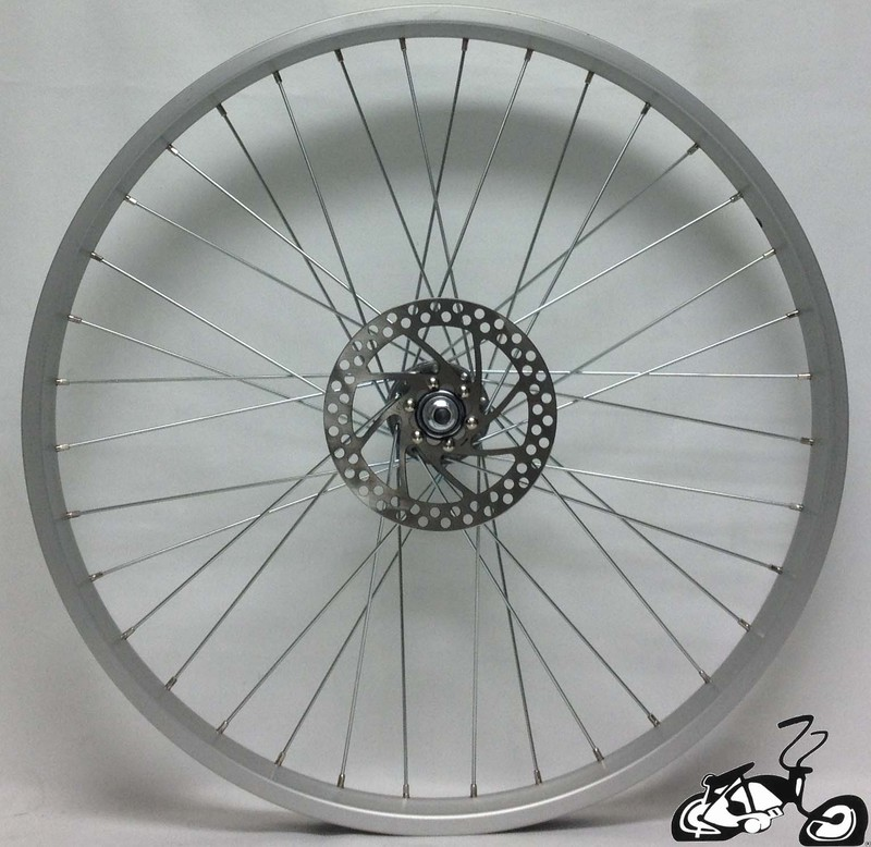 Front Disc Brake Wheel For A Cruiser Bicycle 36 Spoke