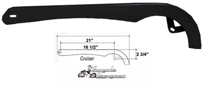 Cruiser Bicycle Chainguard BLACK