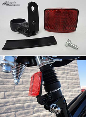 Seat Post Reflector with Bracket RED (each)