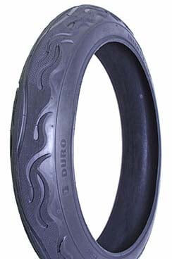 "20"" x 3"" FLAME black wall tire (each)"