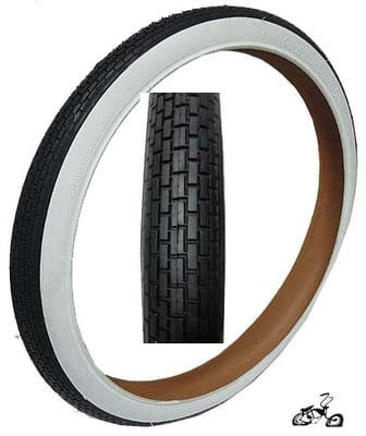 "24"" X 2.125"" Bicycle Tires White Wall - BRICK"