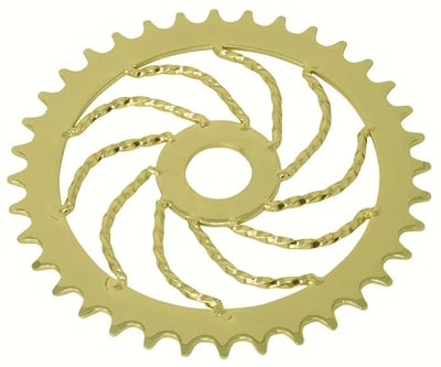 36 Tooth Lowrider Twist Sprocket GOLD