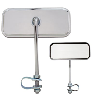 Lowrider Bicycle Mirror Rectangle ALL CHROME