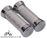 Deluxe Bicycle Grips CHROME